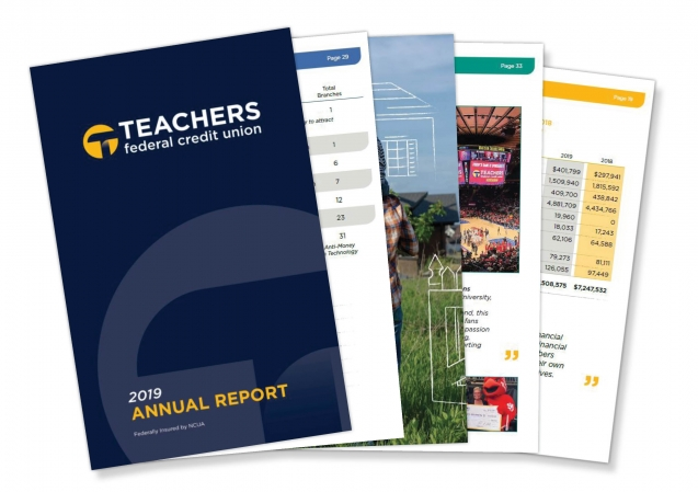 Teachers Annual Report and assorted documents