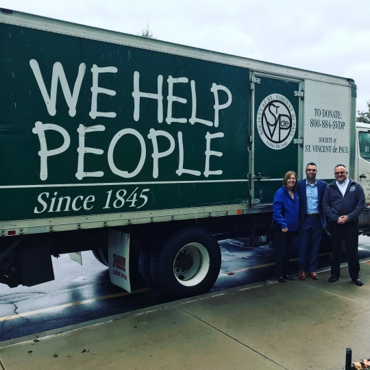 We Help People written on St. Vincent DePaul truck